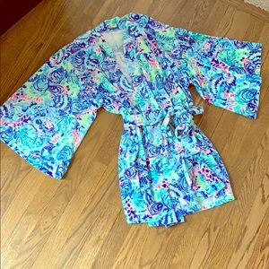 Lilly Pulitzer Velour Robe